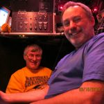 Alvin Pilot Bob Waters, right, and University of Delaware chemist George Luther were in Alvin's new sphere March 18.